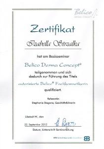 Zertifizierung Fachkosmetikerin BELICO