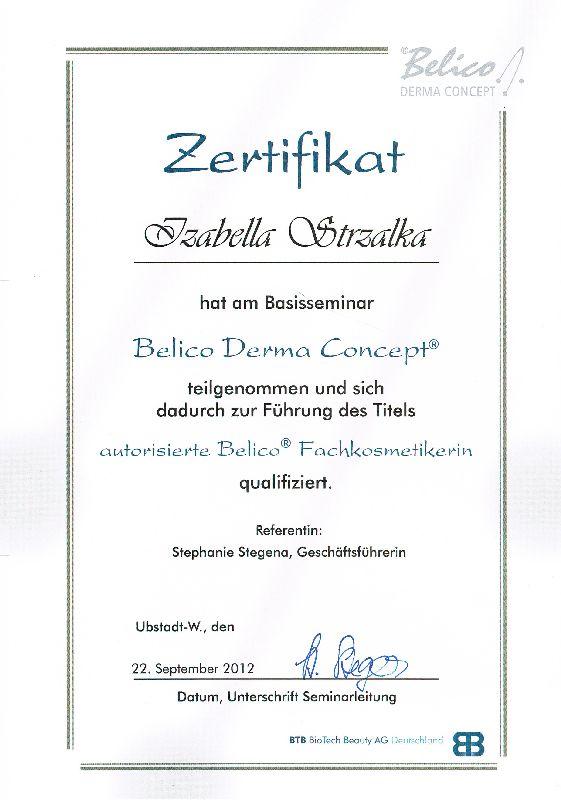 Zertifizierung zur BELICO Fachkosmetikerin