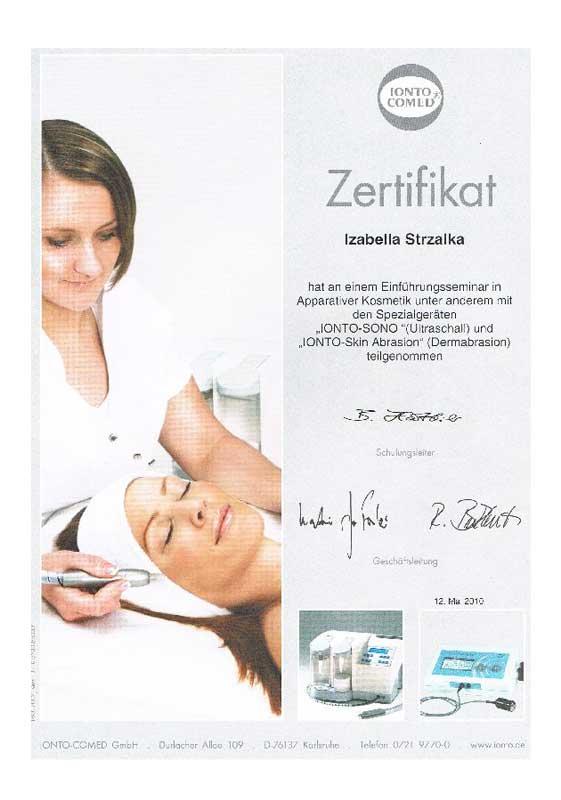 Zertifizierung Ultraschall und Dermabrasion