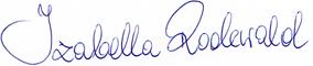Unterschrift Izabella Rodewald, Inhaberin des Kosmetikstudios Treffpunkt Schönheit