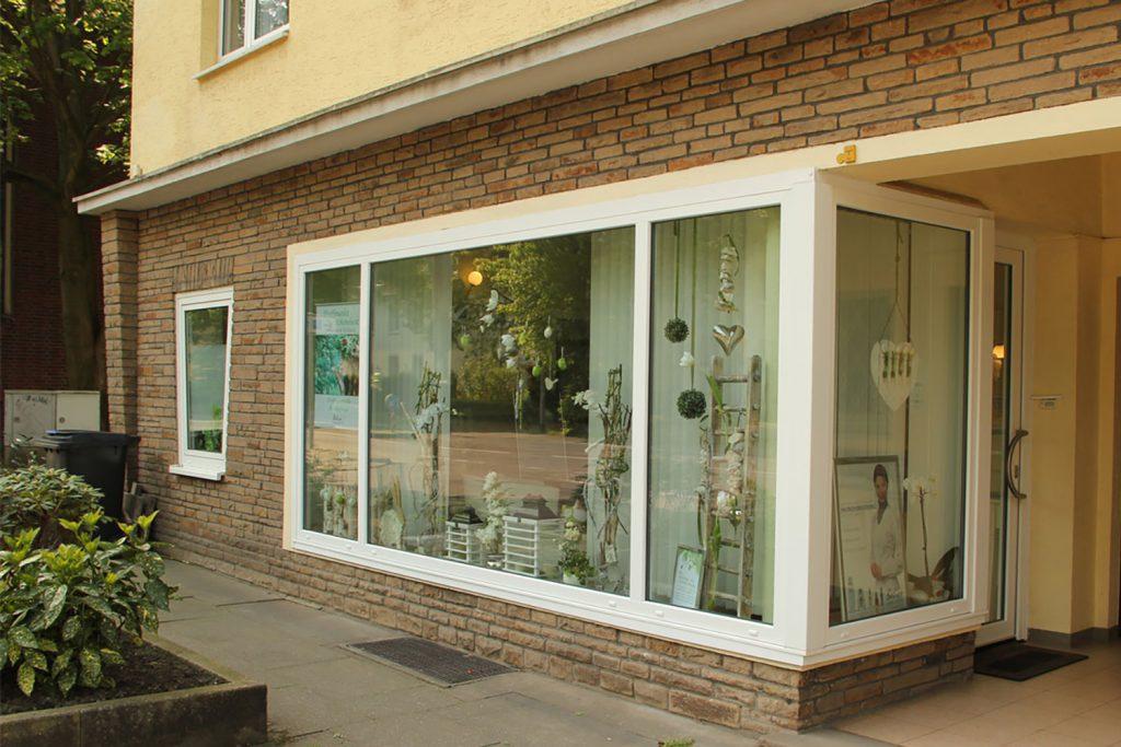 Außenansicht des Kosmetikstudios an der Wiescherstraße in Herne