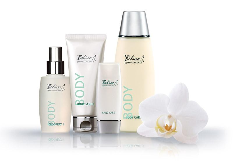 Produktserie zur Körperpflege von Belico